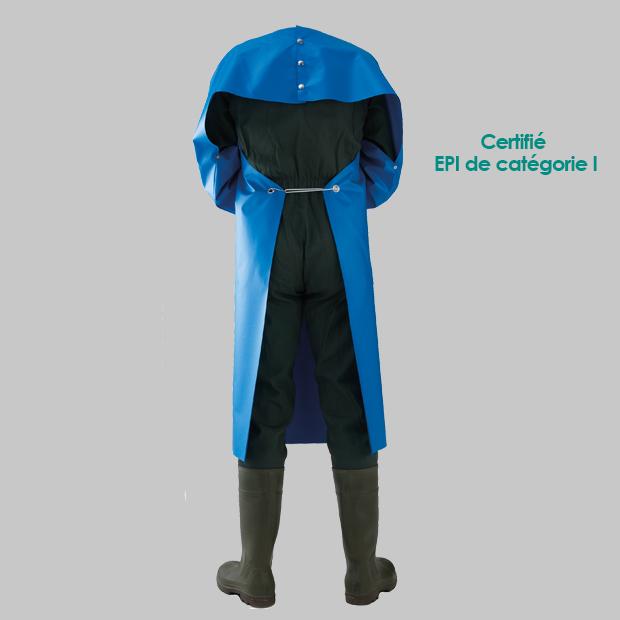 VINYLE-GOLF30-manches-EPI-bleu-dos